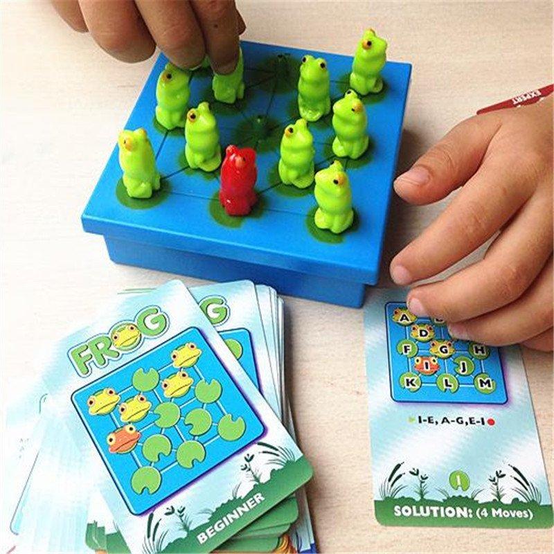 男女圣诞礼物青蛙跳棋40关儿童益智玩具思维训练迷宫