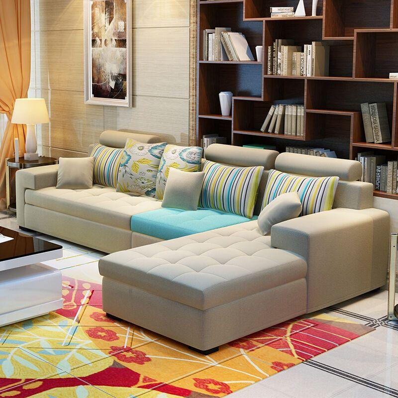 木帆 沙发 布艺沙发 组合客厅转角大小户型布艺沙发 简约现代沙发