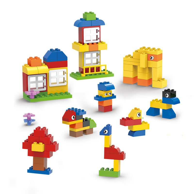 捣蛋鬼 3613动物乐园儿童早教益智93块场景拼装积木宝宝玩具 3-6岁