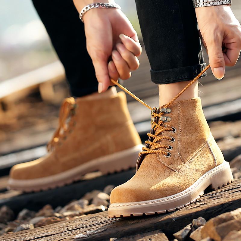 凡世界 韩版潮流马丁靴 时尚男士短靴休闲鞋 新品户外图片