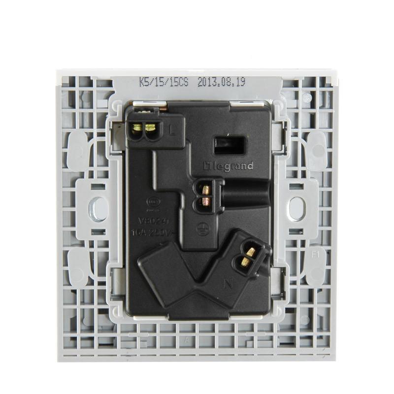 tcl罗格朗开关插座 k5经典白 16a 带开关三孔空调插座面板