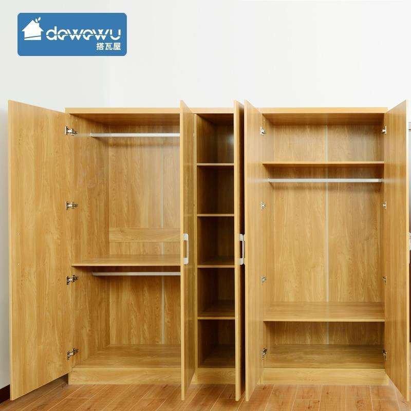 搭瓦屋 卧室家具 简约木纹现代双门/三门衣柜 北欧风格家用简易大容量