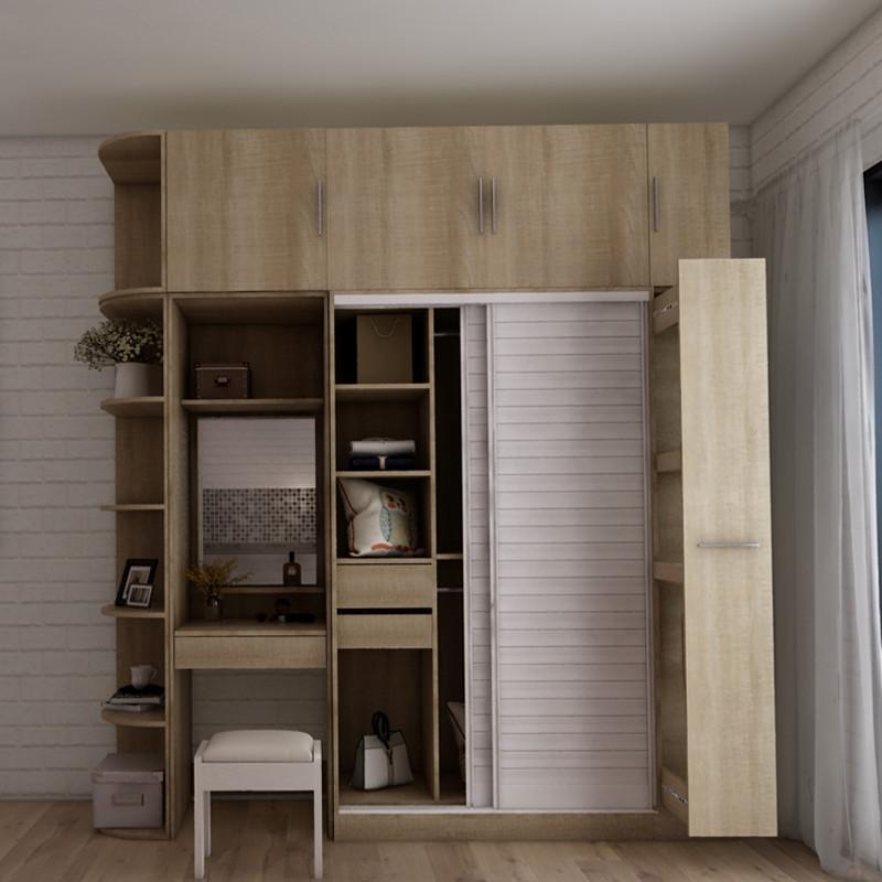 搭瓦屋 北欧简约推拉门衣柜 卧室整体衣柜组合大衣橱移门衣柜