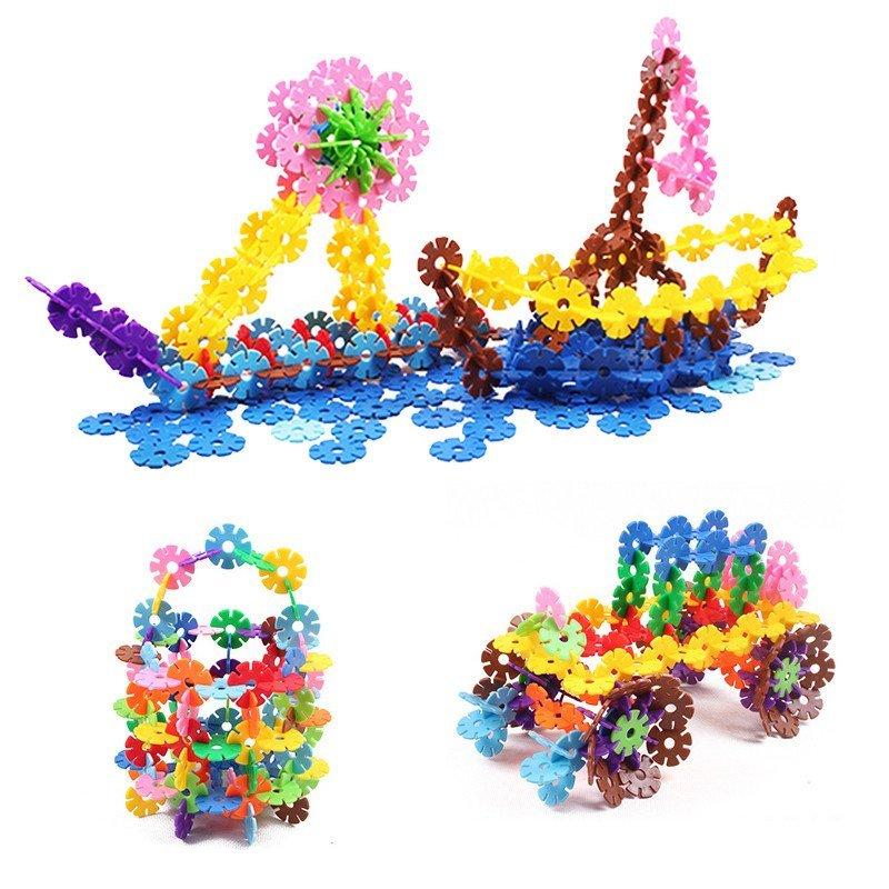 那些花儿立体拼图加厚雪花片塑料拼插积木10色超大号儿童建造拼装益智