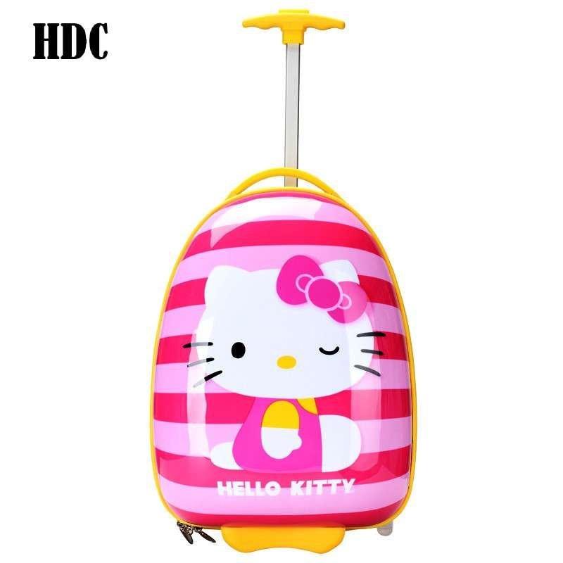 hdc卡通儿童拉杆箱可爱儿童旅行箱16寸学生行李箱可爱