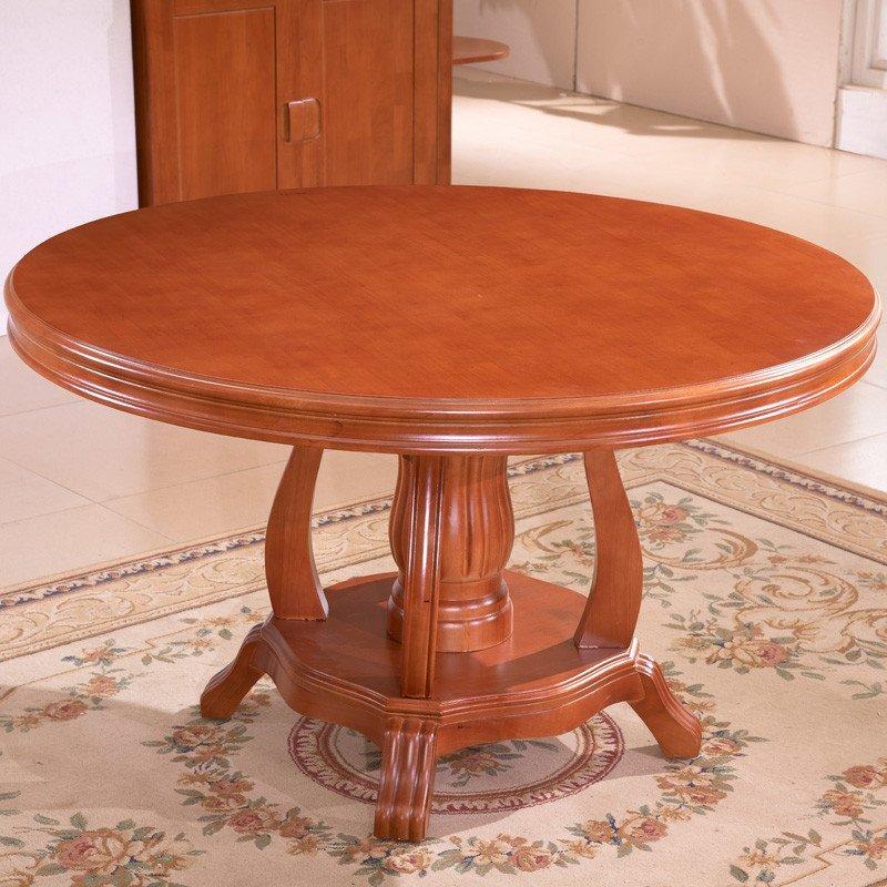 吟鸿 餐桌 实木餐桌 中式圆餐桌 客厅餐桌 大圆桌 现代简约圆桌 转盘