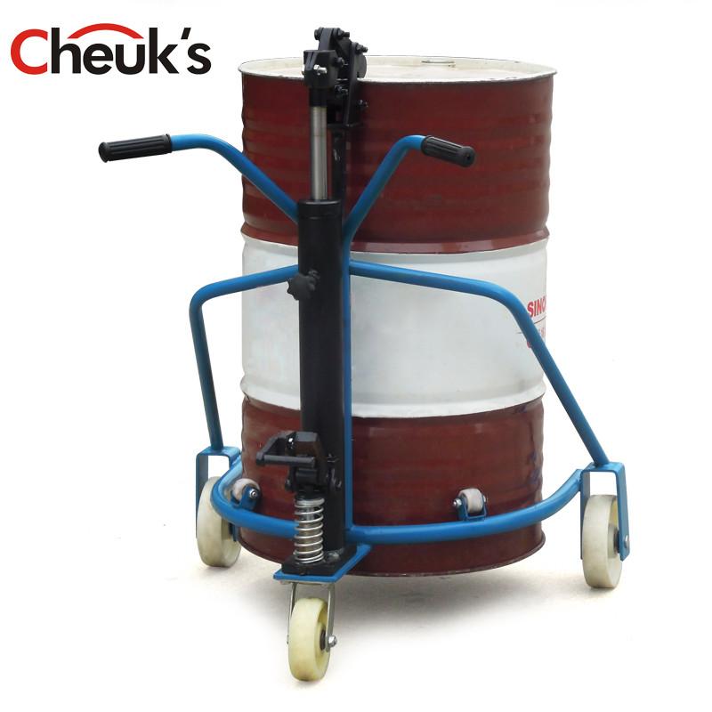 卓仕cheuks 300kg小型手动油桶手推车 倒料车液压拖车图片