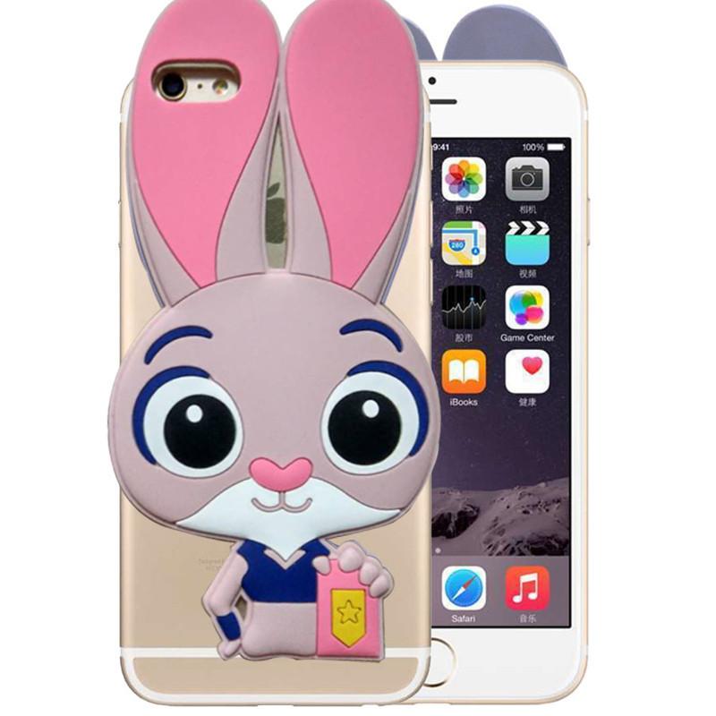 溪特oppo r7plus疯狂动物城朱迪免子手机壳oppo r7plus硅胶全包透明