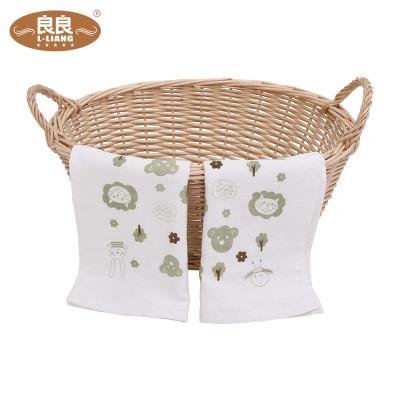 良良 婴儿毛巾 生态竹纺宝宝毛巾70*32cm 柔软(单条装)