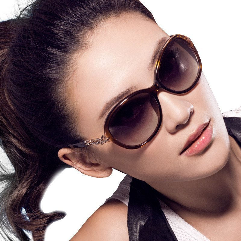 陌森太阳镜女潮 欧美大框圆脸优雅个性复古墨镜 莫森长脸司机眼镜图片