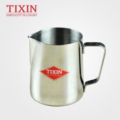 TIXIN/梯信 欧式拉花杯 厚重尖嘴花式咖啡拉花缸 不锈钢 350ml