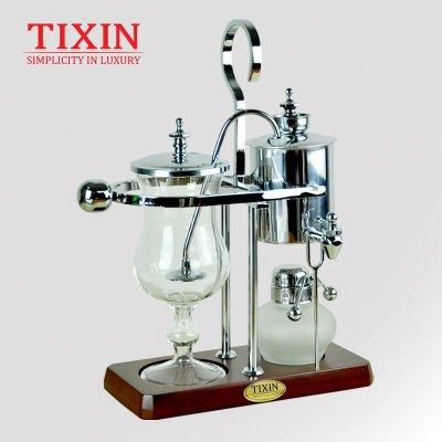 TIXIN/梯信 皇家比利时咖啡壶 不锈钢虹吸式煮咖啡机家用 T35021银色