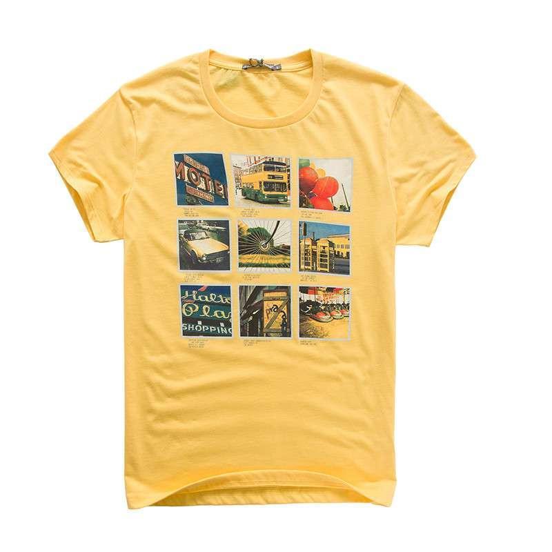 森马男装夏装新款短袖t恤衫 男士印花圆领纯棉吸汗打底衫 韩版潮t图片