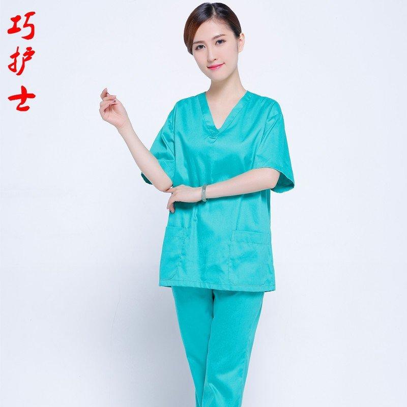巧护士 洗手衣 手术室医生内穿衣 分体套装时尚新款 牙科护师服 宠物