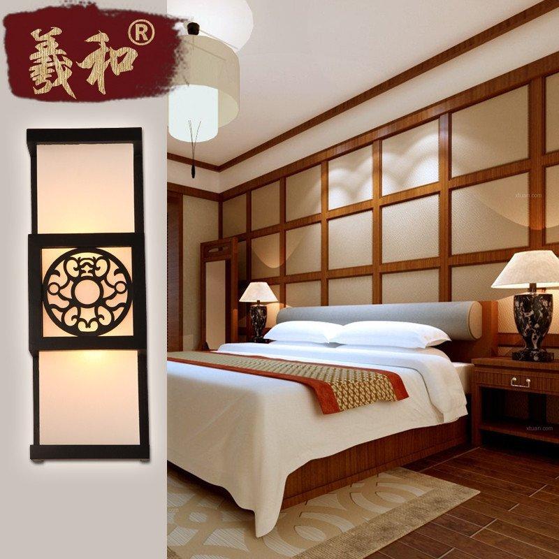 羲和中式壁灯 欧式卧室阳台过道led床头灯 客厅走廊楼梯床前仿古壁挂