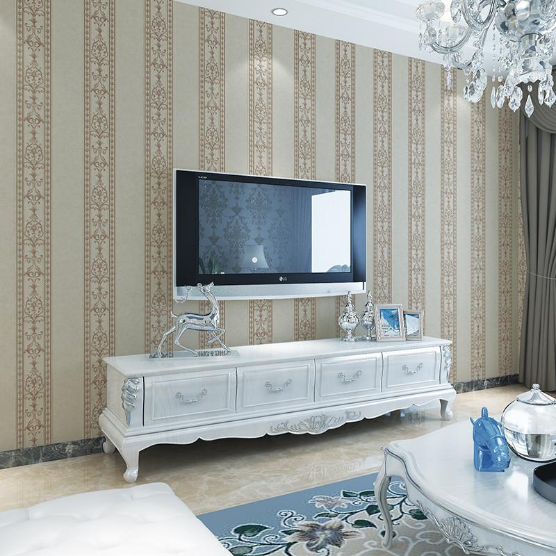 壹加壹 歐式壁紙高檔3d立體臥室墻紙客廳電視背景墻壁紙