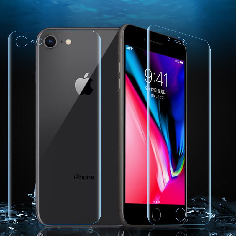 翎听 苹果8钢化膜/水凝软膜全屏覆盖手机保护贴膜 适用iphone8/苹果8