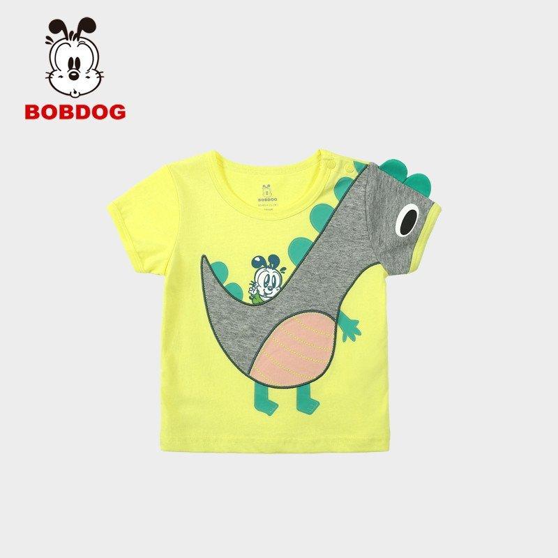 巴布豆童装男童短袖t恤幼儿夏装宝宝衣服可爱仿生小
