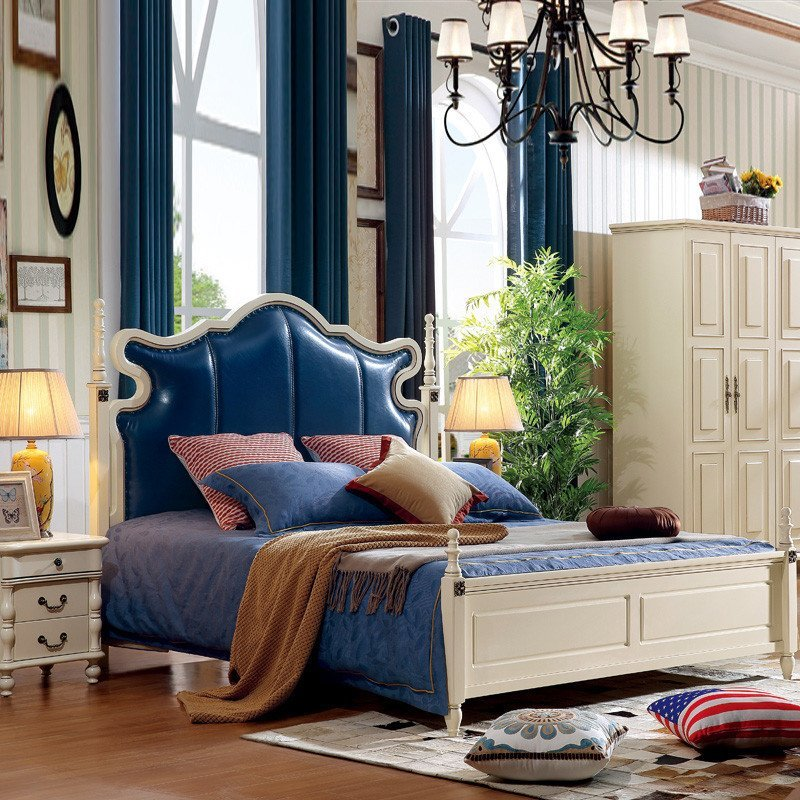 拉菲伯爵 英式双人床 实木床 英伦风格家具田园双人床