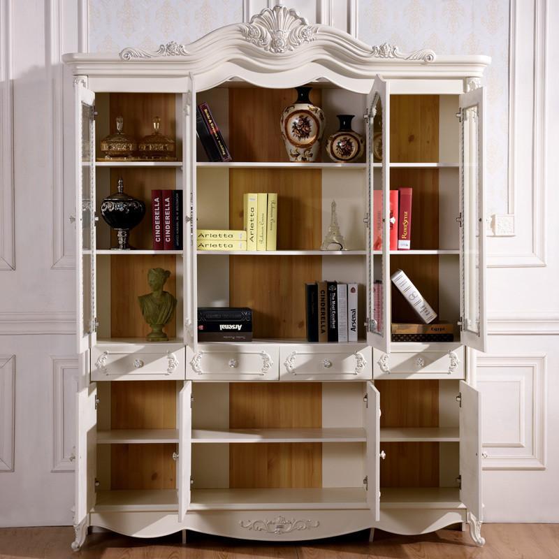 拉菲伯爵 法式家具 欧式书柜 田园书柜 玻璃 两门三门