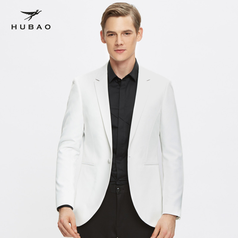 青年时尚男装_虎豹订制秋冬季男士西装司仪韩版外套男装青年时尚修身型白色小西装定