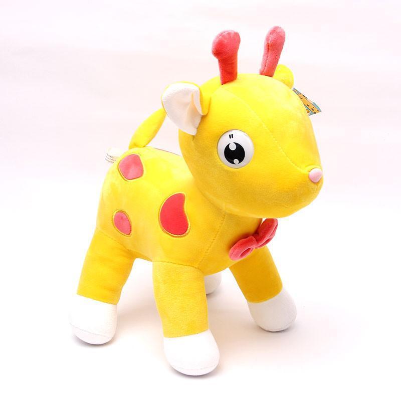 宝诚达 新款毛绒玩具梅花鹿公仔可爱布娃娃小鹿玩偶抱枕婚庆摆件 黄色