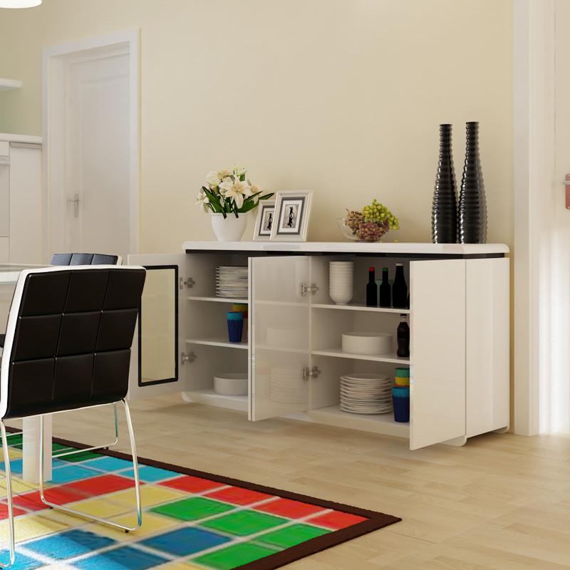 一米爱 餐边柜现代简约 白色烤漆茶水柜储物柜酒柜 时尚餐厅柜7