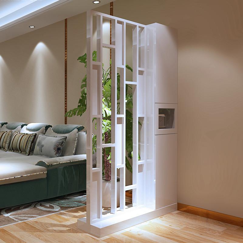 一米爱简约创意屏风 客厅镂空隔断 时尚玄关置物架花架座屏d520