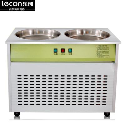 樂創LC-CB02炒冰機商用酸奶機 冰粥機炒貨機器雙鍋商用炒酸奶機 炒冰機【雙盤雙控】