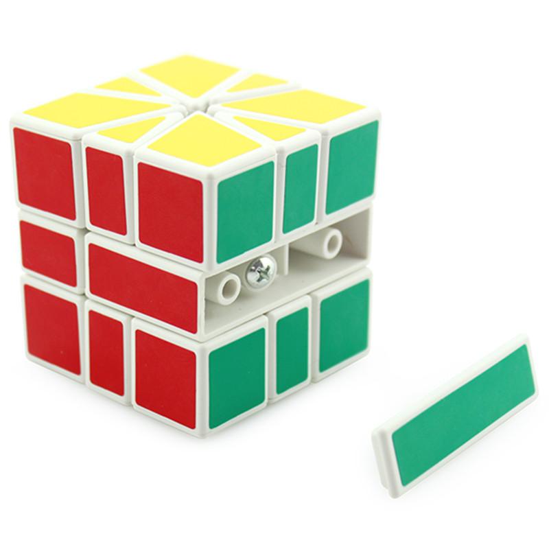 正版圣手sq1魔方圣手魔方三阶sq1异形魔方比赛专用扇形魔方(sq-1白底)图片