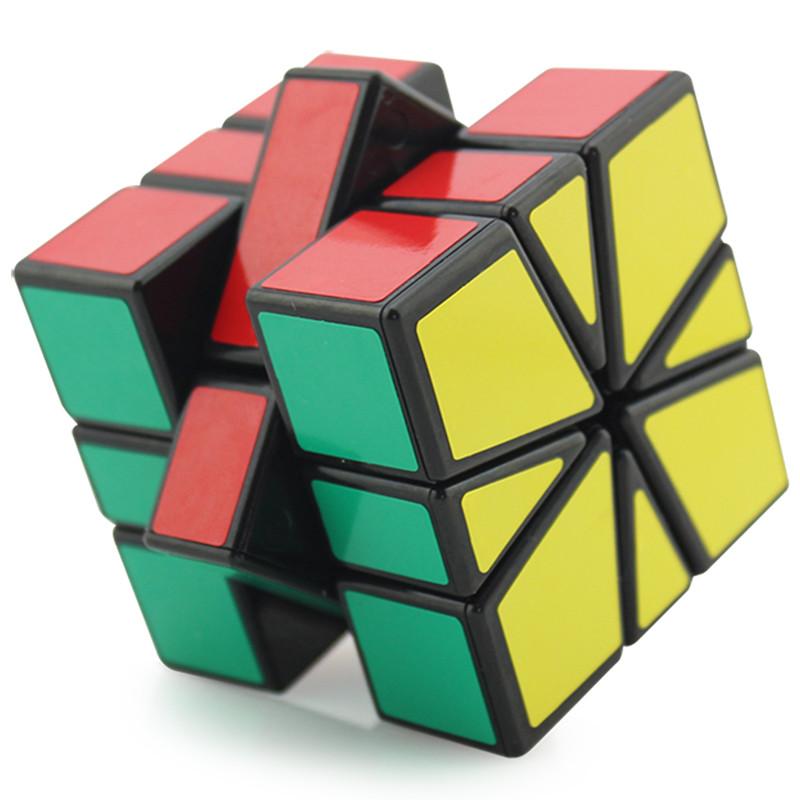 正版圣手sq1魔方圣手魔方三阶sq1异形魔方比赛专用扇形魔方(sq-1黑底)图片