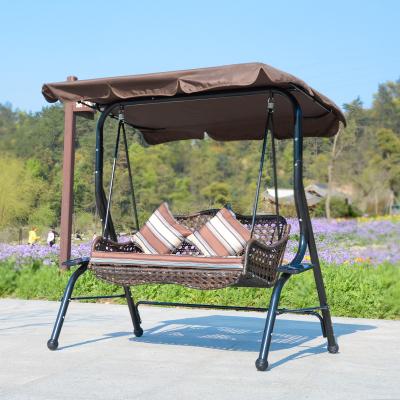 户外秋千椅藤椅阳台铁艺秋千吊椅吊篮室外庭院秋千摇椅双人午睡躺椅