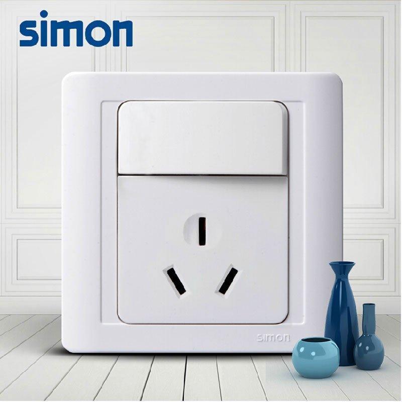 西蒙正品开关插座面板55系列16a三孔空调插座带开关面板n51682by