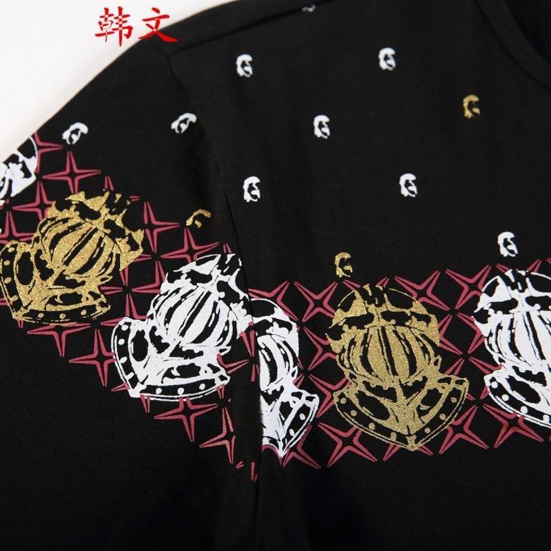 韩文2015秋装男士t恤潮男时尚休闲修身民族风男装长袖