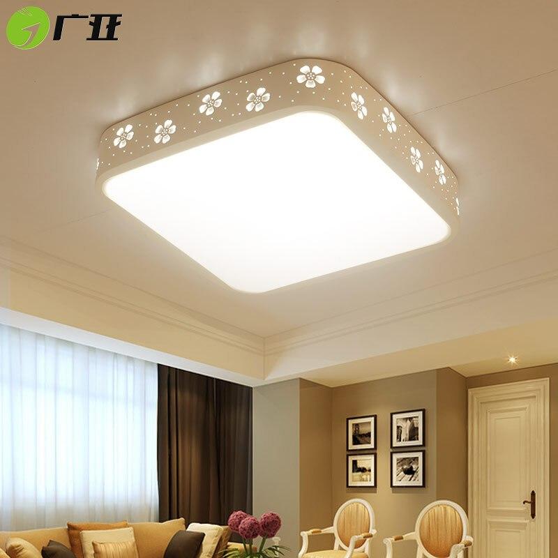 广亚led吸顶灯长方形客厅灯亚克力三室两厅灯具套餐简约现代圆形卧室