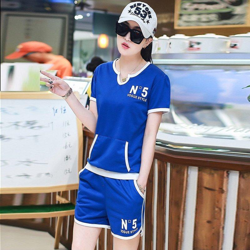 zorncarter2016夏装新款韩版学生短袖t恤短裤时尚修身