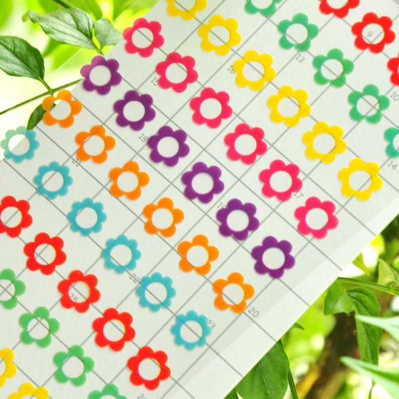 小清新可爱卡通儿童贴纸幼儿园奖励花朵贴画宝宝贴纸日记贴相册贴 有