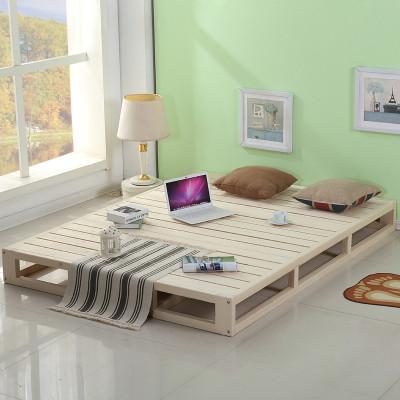 诚美家具 实木床垫 木板床榻榻米床 松木硬席梦思 硬床板排骨架 裸床