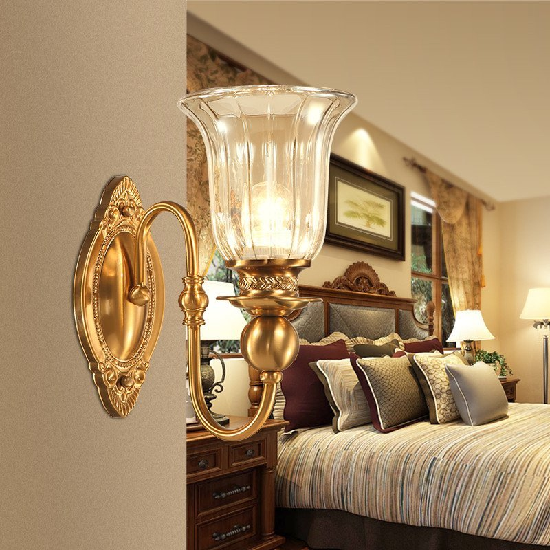 异朵 壁灯美式乡村铁艺客厅灯卧室壁灯 床头灯过道墙壁灯 走廊简约单图片