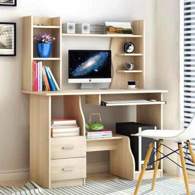 台式电脑桌 简约家用台式电脑桌板式书桌写字台简易办公桌子书架 100