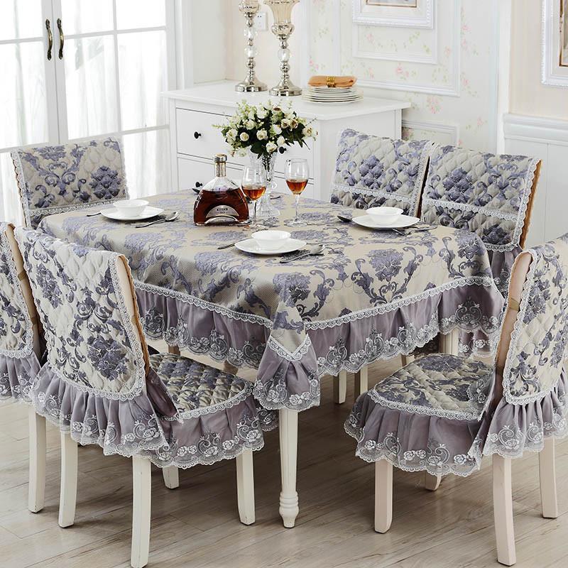 六月荷 中欧式餐椅垫套装椅子套餐桌布茶几布桌套椅垫坐垫套套装图片