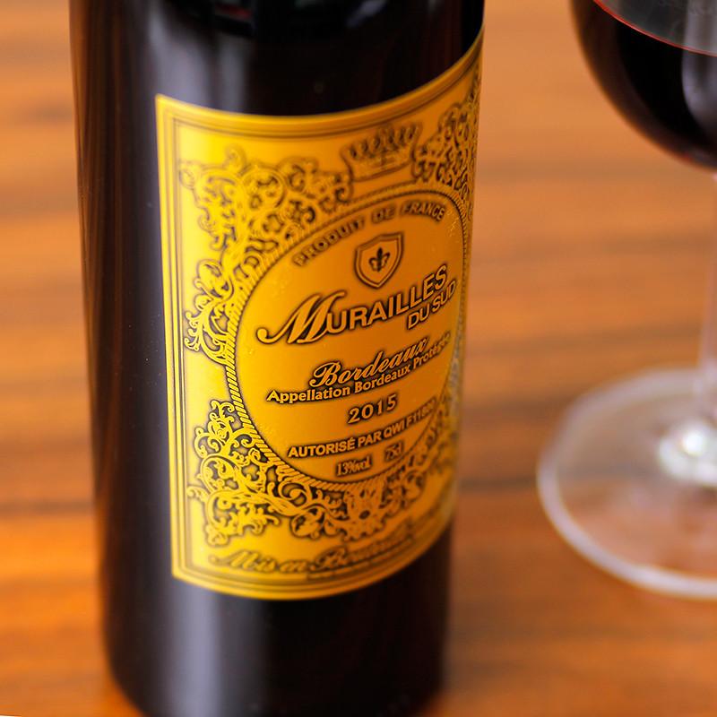 法国进红酒慕佳朗金系列干红葡萄酒波尔多aop原瓶原装单支750ml