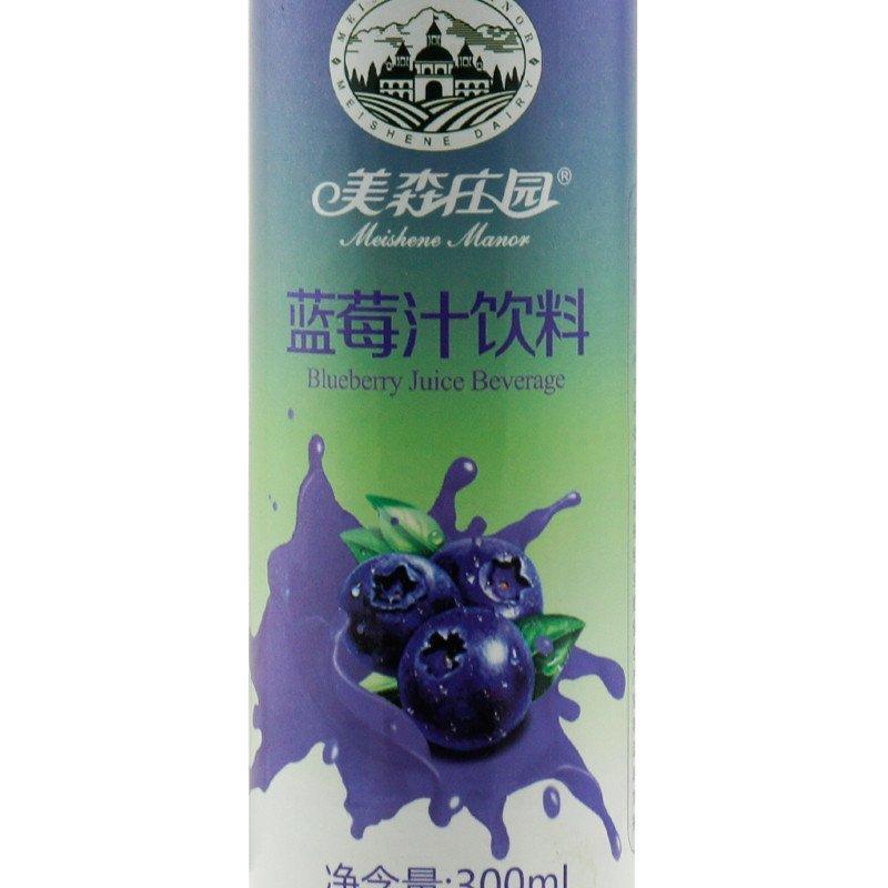 美森庄园 蓝莓汁饮料果汁饮品 300ml*20瓶