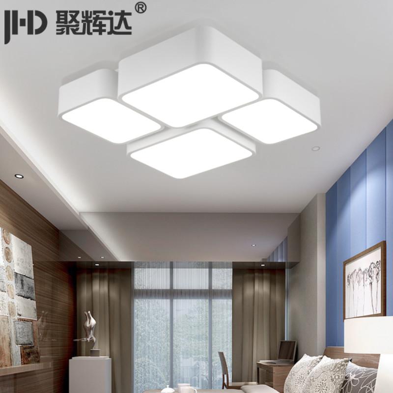 简约现代客厅灯长方形大气异形大灯主卧室灯温馨浪漫房间灯具家装