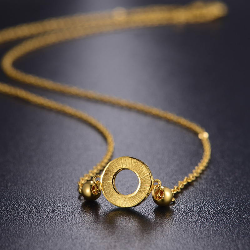 【中国黄金】 足金首饰简约圆环黄金项链 黄金饰品 金