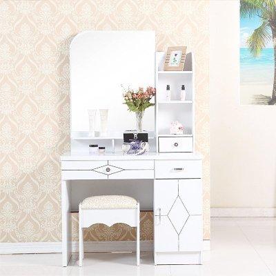 鲁菲特 梳妆台 现代简约韩式化妆桌 卧室时尚妆台 梳妆台套装 ls-013