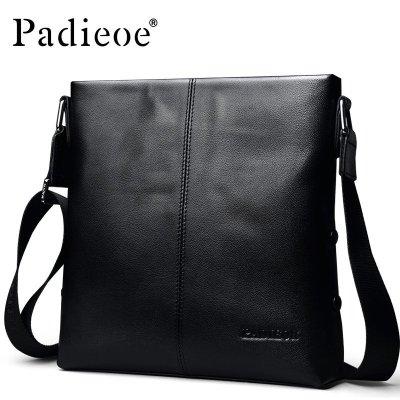 帕迪歐休閑單肩男士包豎款頭層牛皮斜挎包時尚簡約小背包