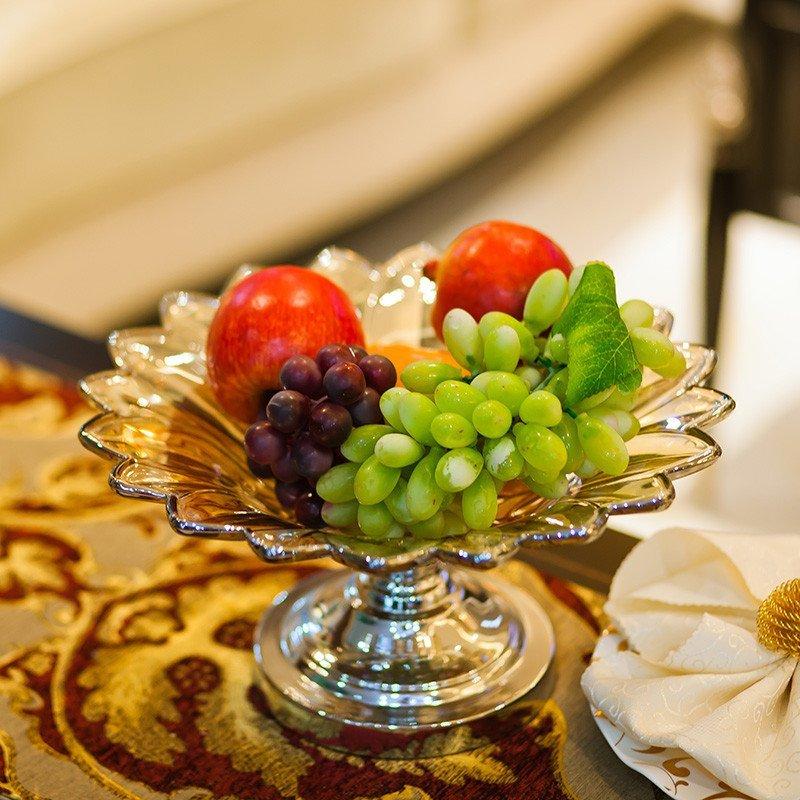 欧式玻璃水晶果盘 水果盘干果盆现代创意时尚零食盘客厅家居摆件 e110