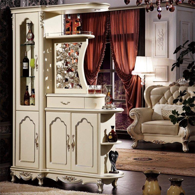 法莉娜 法式间厅柜 欧式隔断柜玄关柜 客厅实木酒柜玄关柜子 h40