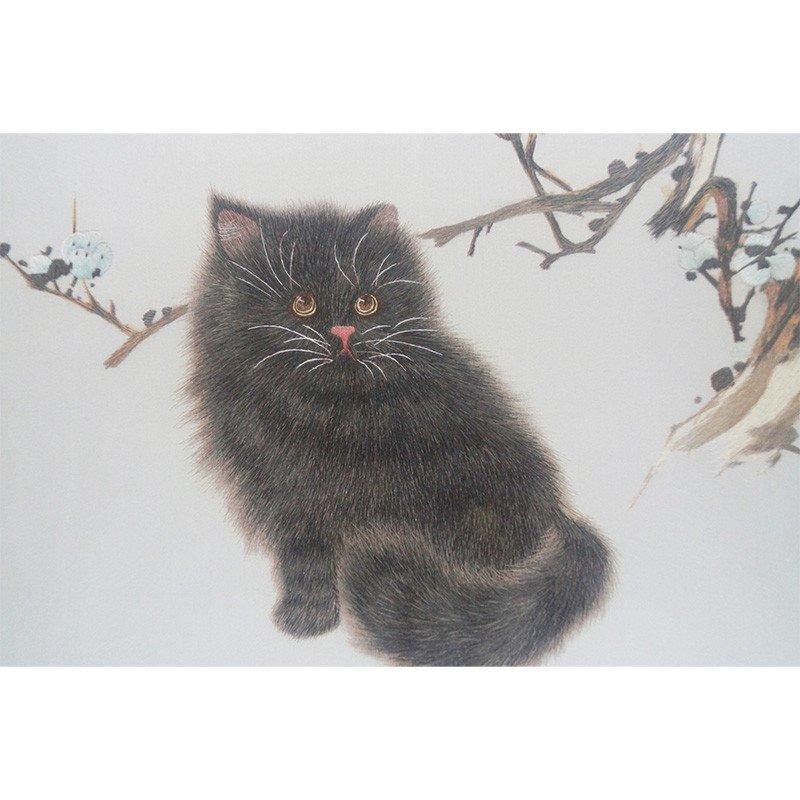 刺绣 猫 外事商务特色创意礼品